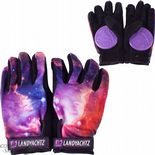 "LANDYACHTZ ""Space"" Slide Gloves w/ Pucks  L or XL Longboard Freeride Purple/Black"